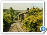 Summer Morning Sunlight-Cottage and Lane Delph-010514